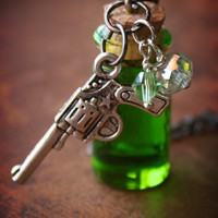 Feelin Lucky Green Potion Bottle Necklace with by ProjectPinup