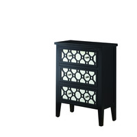 Black/Mirror Contemporary Bombay Chest