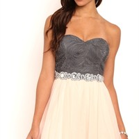 Dress with 3D Detail Bodice and Soft Skirt