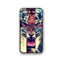 Zeimax® UV Case for iPhone 5 5S - Tiger Roar Cross Hipster