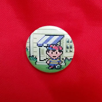 """Earthbound Ness 1"""" Pin"""