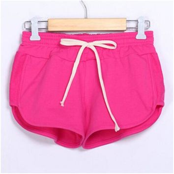Summer girls training sports shorts sexy temptation high quality stretch cotton breathable ladies running yoga fitness shorts