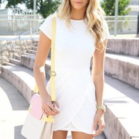SABO SKIRT  Madonna Dress - White - $58.00