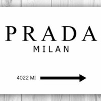 Prada Milan 11x14 Gossip Girl inspired Print - other sizes & cities available