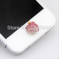 1pcs home button sticker for iphone 6/4s/5/5s iPad,diamond/cartoon sticker  for iphone 5 6 plus new