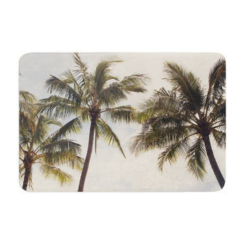 "Catherine McDonald ""Boho Palms"" Coastal Trees Memory Foam Bath Mat"