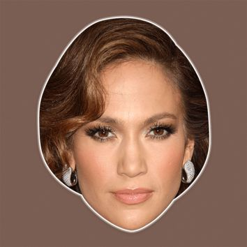 Sad Jennifer Lopez Mask - Perfect for Halloween, Costume Party Mask, Masquerades, Parties, Festivals, Concerts - Jumbo Size Waterproof Laminated Mask