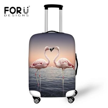 FORUDESIGNS Fashion Animal Flamingo Protective Covers Apply to 18 22 24 28 30 Inch Suitcase Travel on The Road Thickness Elastic