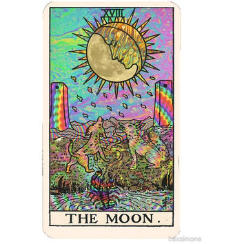 Psychedelic Tarot Card Sticker