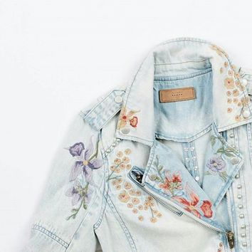 Denim Moto Jacket by BLANKNYC