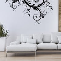 Fun swirls floral wall decal