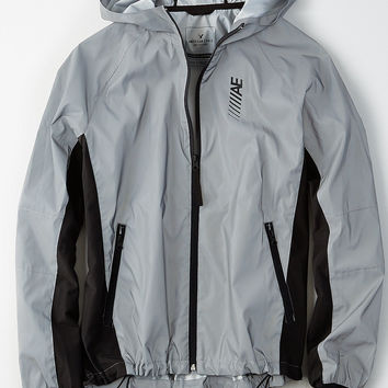 AE Active Reflective Windbreaker, Silver
