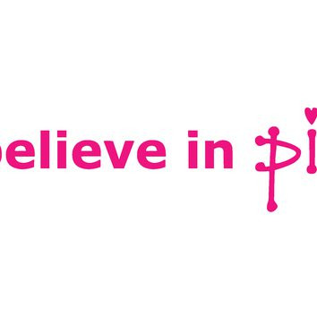 (2) TWO - Breast Cancer, I Believe In Pink, Vinyl Graphic Decal Sticker Vehicle Car Truck Window Wall Laptop - High Quality Outdoor Rated Vinyl + FREE DECAL