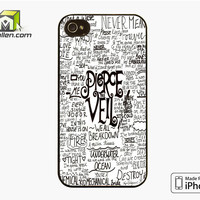 Pierce The Veil Song Lyric iPhone 4S Case Cover by Avallen