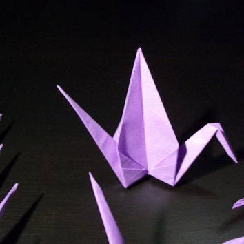 Origami Paper Wedding Crane Violet, Purple, Set of 100 Wedding Crane, Origami Crane, Purple Crane, Wedding Decoration Crane,Origami wedding