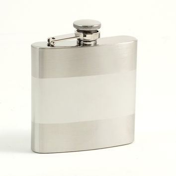 6 oz. Stainless Steel Flask in Satin Finish.
