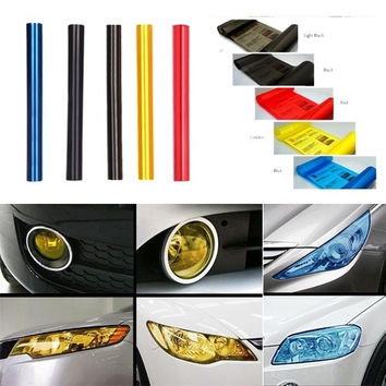 5 Colors 30cm x120cm Auto Car Light Headlight Taillight Tint Vinyl Film Sticker Sheet  K1013 Car Accessories = 1651431876