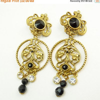 Vintage Bijoux Designs Victorian Revival Clip Earrings