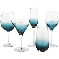 Teal Blue Crackle Drinkware