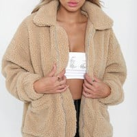 Buy Our Pixie Jacket in Caramel Fleece Online Today! - Tiger Mist