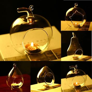 Pretty STOCK HANGING GLASS BAUBLE SPHERE BALL CANDLE TEA LIGHT HOLDER VASE HOME DECOR