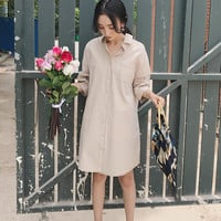 BOYFRIEND'S SHIRT DRESS