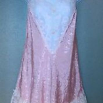 VINTAGE VAL MODE VICTORIAN  SHORTIE NIGHTGOWN SEXY VERY LACY SIZE M