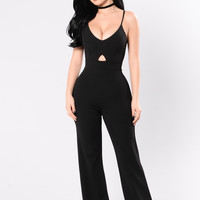 You Need It Jumpsuit - Black