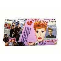 I Love Lucy Collage Faux Leather Classic Wallet