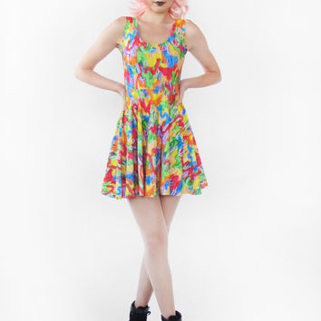 Drippy Frosting Fit and Flare Dress