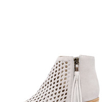 Matisse Indie Ivory Suede Leather Cutout Ankle Booties