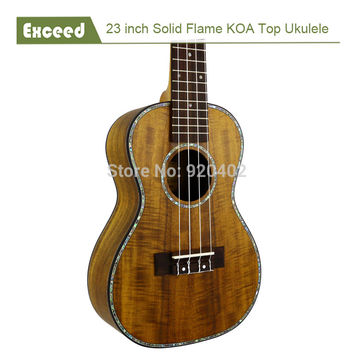 "Free shipping 23"" solid KOA top concert Ukulele Acoustic Guitar Hawaii guitar Music instrument uke handcraft guitarra ukelele"
