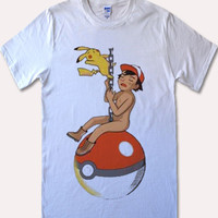 Pokemon parody miley cyrus Shirt Rock Shirt Hip Hop Top Punk Top Women Tunic Top