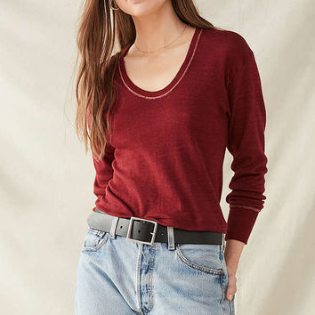 Vintage Overdyed Scoopneck Shirt | Urban Outfitters