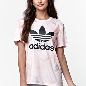 Adidas Pastel Rose Short Sleeve T-Shirt - Womens Tee - Multi - Small
