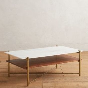 Elemental Layers Coffee Table by Anthropologie in Bronze Size: One Size Furniture
