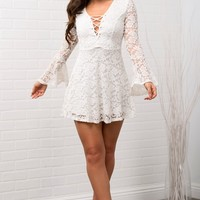 Scarlett Lace Dress - White