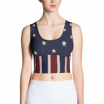 American flag Top - 4th of July Tops - Fourth of July Tops - Patriotic Crop Top - Flag costume - Summer Top