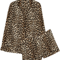 Equipment - Lilian leopard-print washed-silk pajama set