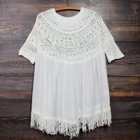 desert wanderer knit tunic in ivory