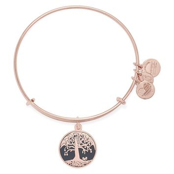 Charcoal Tree Of Life Charm Bangle