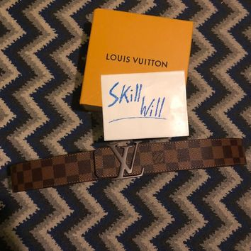Authentic Louis Vuitton Brown Damier Belt Size 100/40