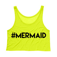 Hashtag Mermaid Tank Top Crop