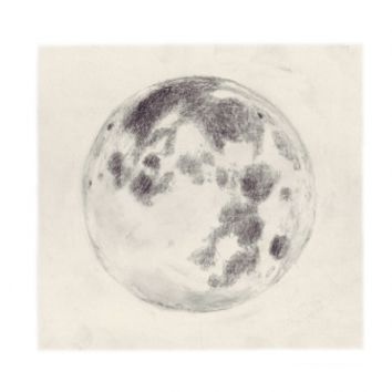 Under The Things They Sleep Serie, Moon Print | Little Paper Planes