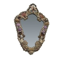 Pre-owned Symmetrical Seashell Mirror