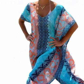 PEAPGC3 2017 Beach Dress Kaftan Beach Sarongs Sexy Cover-Up Chiffon Bikini Swimwear Tunic Swimsuit Bathing Suit Cover Ups Pareo