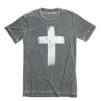 Distressed Cross T-Shirt