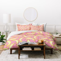 Lisa Argyropoulos Gone Bananas In Pink Duvet Cover