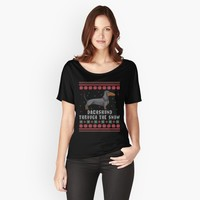 'Dachshund Through The Snow ' Women's Relaxed Fit T-Shirt by EPDLLC