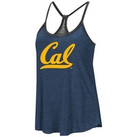 Women's Colosseum Heathered Navy/Heathered Black Cal Bears Clearly Inside Reversible Tank Top
